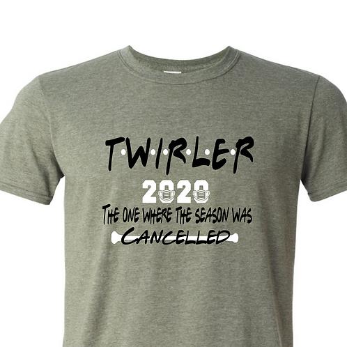 """2020 Twirler """"friends"""" - Green"""