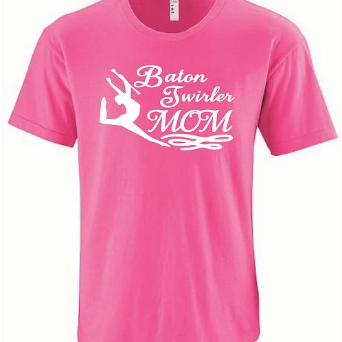 Twirler Mom -Pink/White