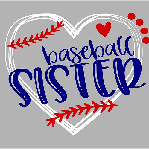 Baseball Sister (heart)