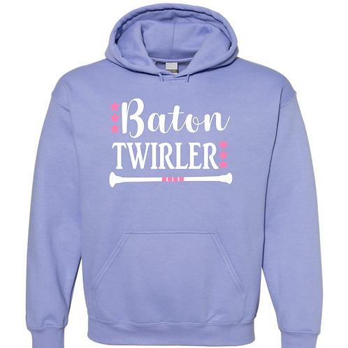 Fancy Baton Twirler Hooded