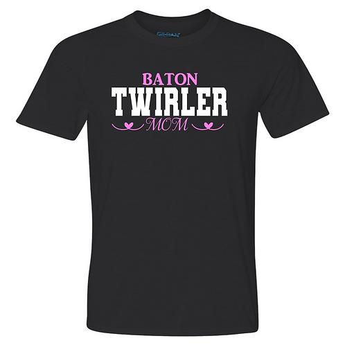 Baton Twirler Mom Hearts