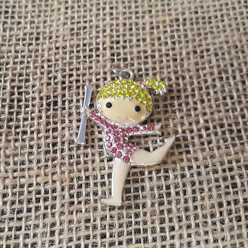 Blonde Bling Twirl Girl