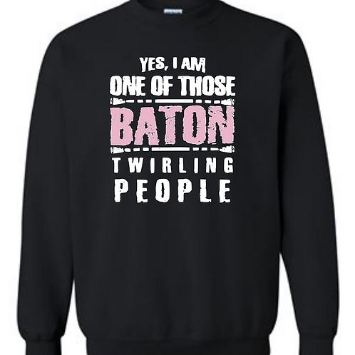 Baton Twirling People (grey or black)