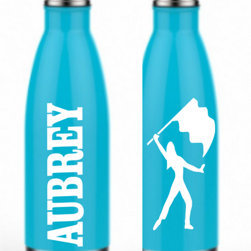 "Personalized ""Cola"" Sports Bottle - Mint"