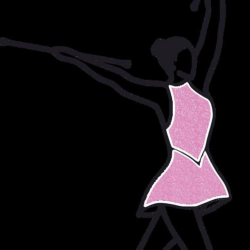 Baton Twirler - Pink Glitter