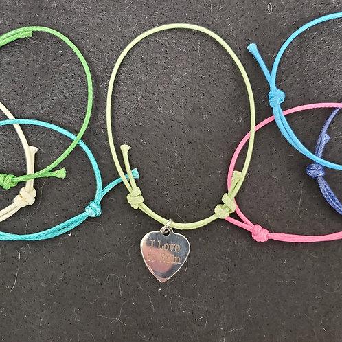 Add on -Waxed Cotton Bracelet