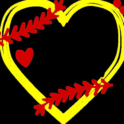 Softball Nana Heart