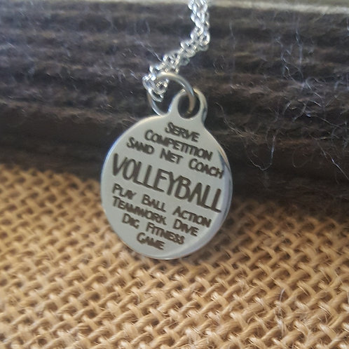 """Volleyball """"words"""" Charm"""