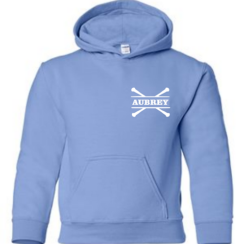 Personalized Hooded Sweatshirt- Carolina Blue