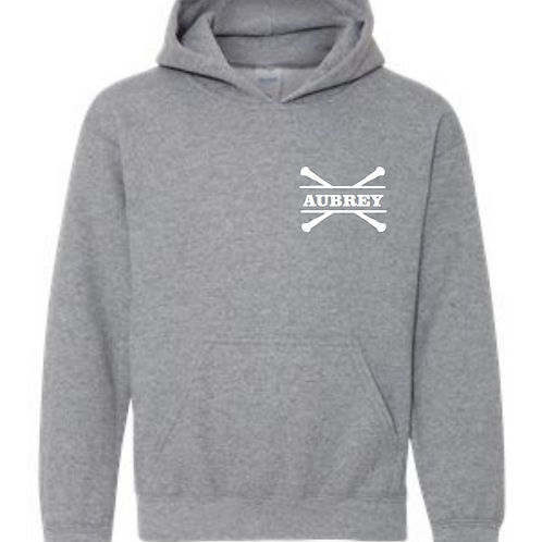Personalized Hooded Sweatshirt- Sports Grey