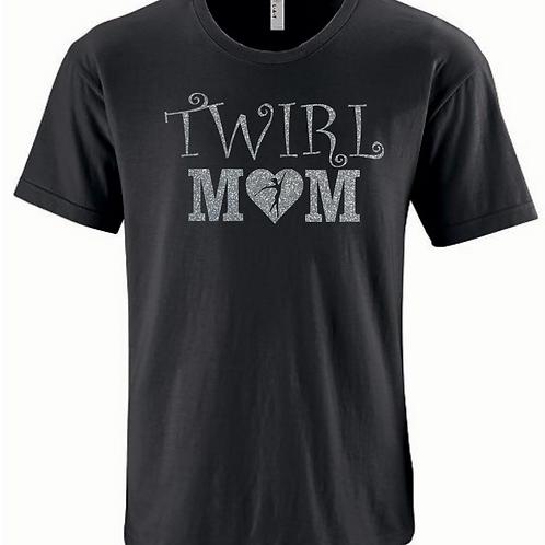Fancy Twirl Mom - Black/Silver Glitter
