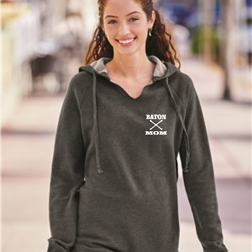 Twirl Mom Pocket - Raw Edge Sweatshirt