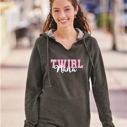 Twirl Grandma- Raw Edge Sweatshirt