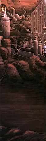 art concept sci-fi city