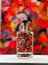 Ginflasche mit bunter Farbe