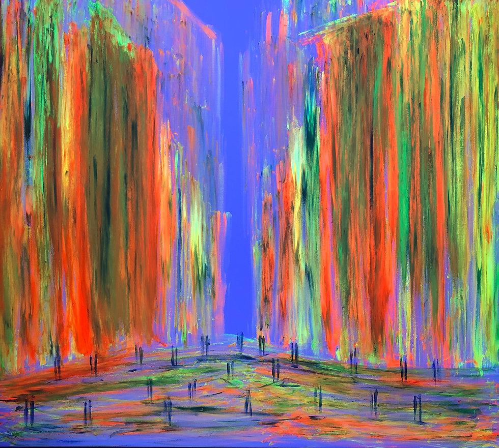Buntes Bild mit fluoriszierenden Farben