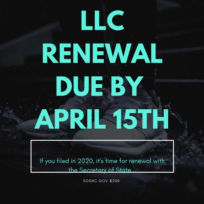 LLC RENEWAL TIME!