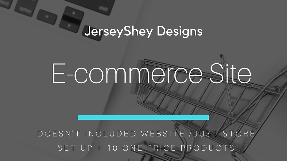 E commerce Site ( Addition to WIX site Only )