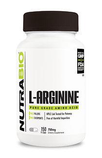 Arginine (750mg) 150 Vegetable Capsules
