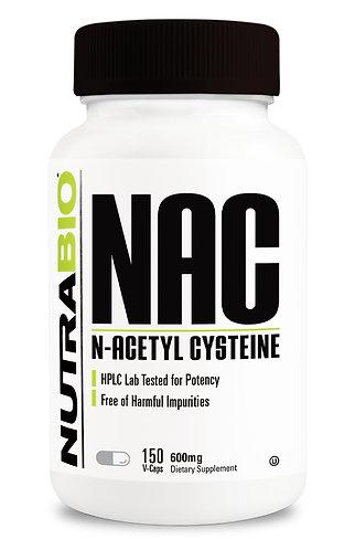 Nutrabio N-Acetyl-Cysteine (NAC) (600 mg) 150 Vegetable Capsules