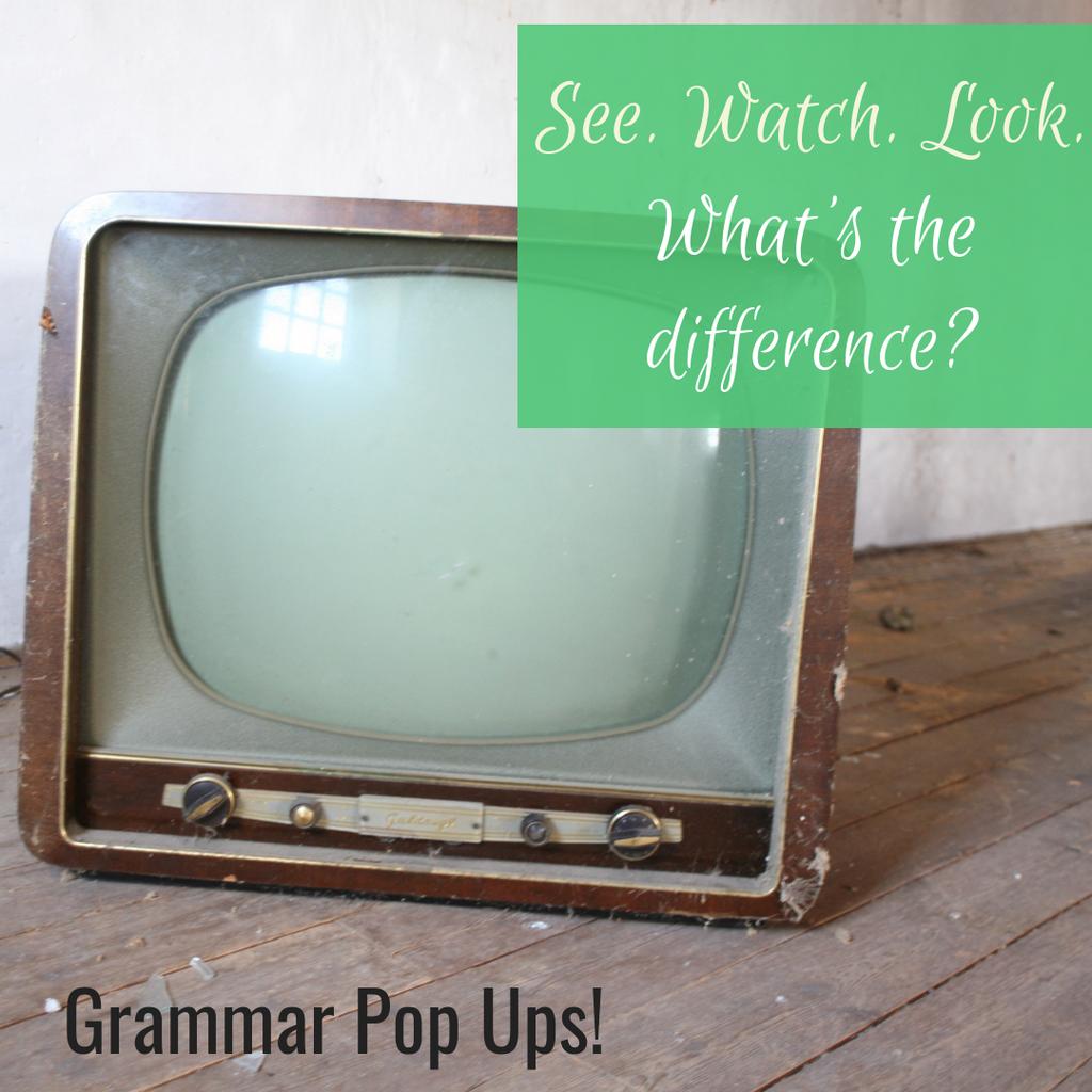 Grammar Pop Ups See Look Watch