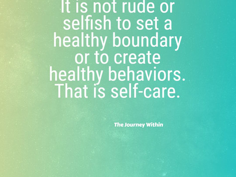 Healthy behaviors create healthy boundaries