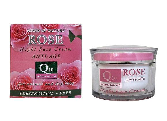 Crème visage à la rose- nuit- 50ml