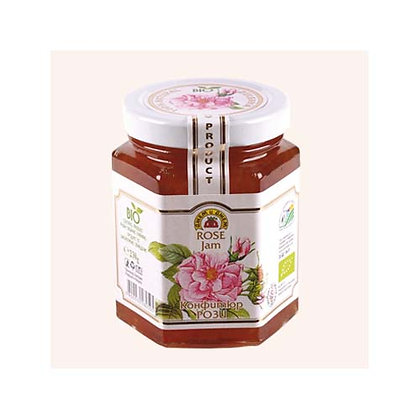 Confiture de rose bio 230g