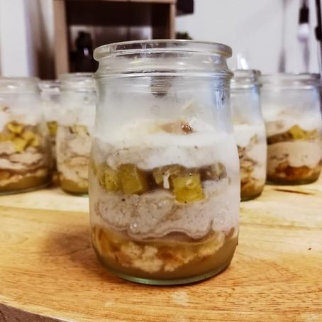 Les recettes du tea time - Verrines pommes et noix au mascarpone