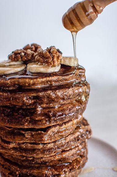 Pancakes au miel à la rose.JPG