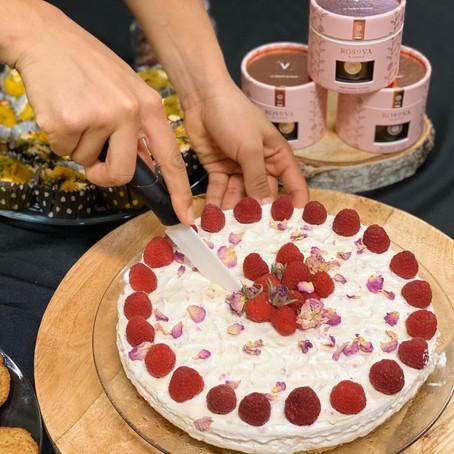 Les recettes du tea time - cheesecake sans cuisson roses et framboises