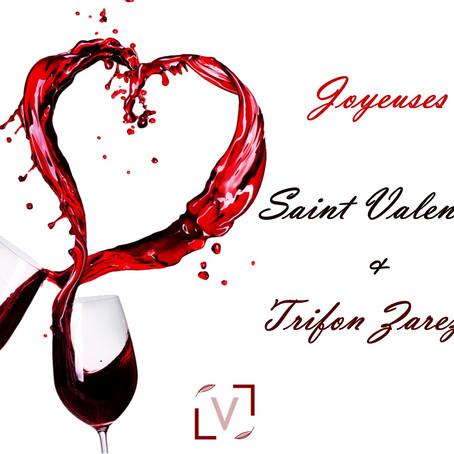 Le 14 février - des roses et du vin