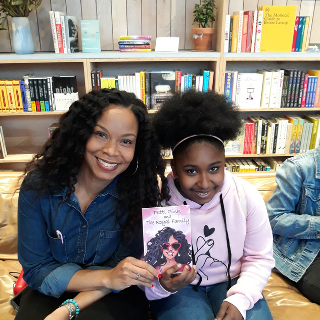 Patti Pink Author Sequoyah Turner with a
