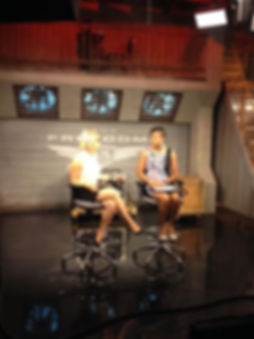 Wyjuana Montgomery being interviewed on the Freedom KAUT Morning Show about her NO FEAR Ladies Conference