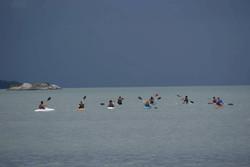 kayaks rumo ao por do sol Paraty