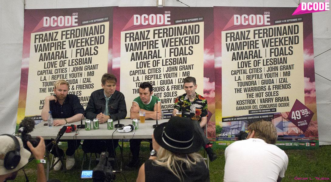 Rueda de prensa (Franz Ferdinand)