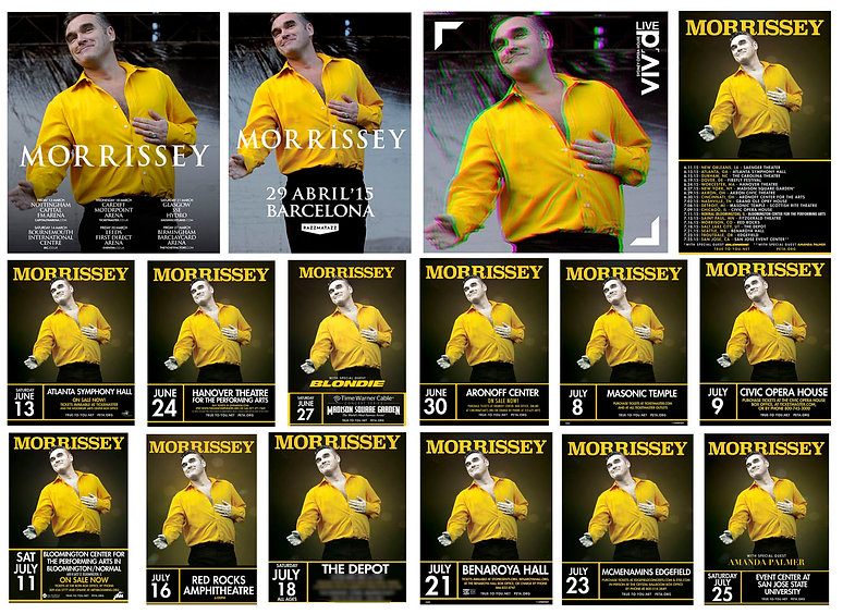 Official poster Morrissey UK Tour, Barcelona, Sidney, US Tour