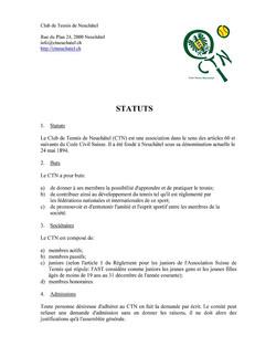 Statuts du CTN 2016