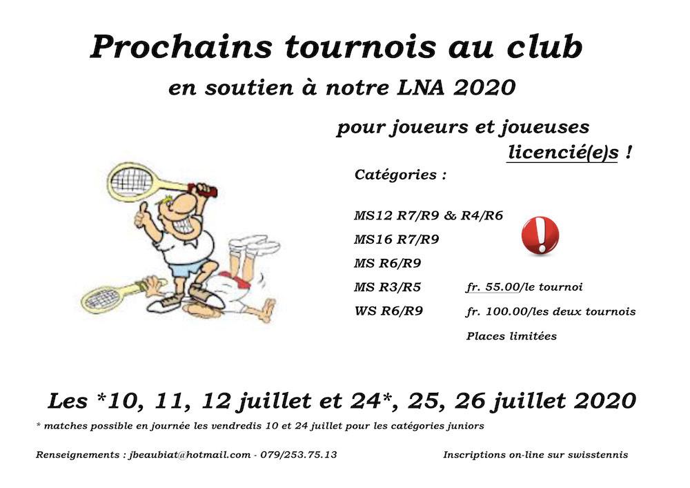 Tournois juillet 2020