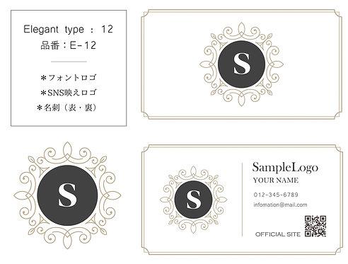 【E-12】ロゴ・名刺(ショップカード)