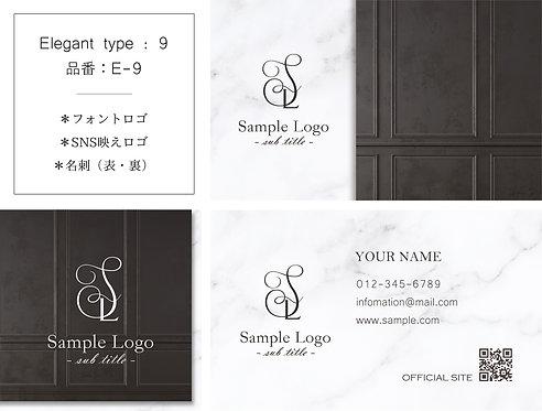 【E-9】ロゴ・名刺(ショップカード)