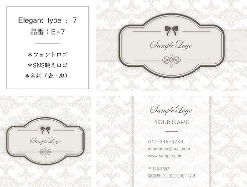 【E-7】ロゴ・名刺(ショップカード)