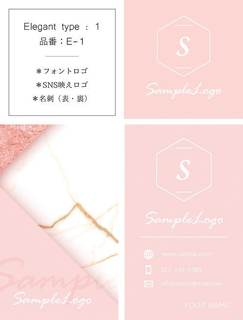 【E-1】ロゴ・名刺(ショップカード)