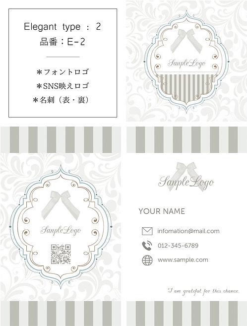 【E-2】ロゴ・名刺(ショップカード)