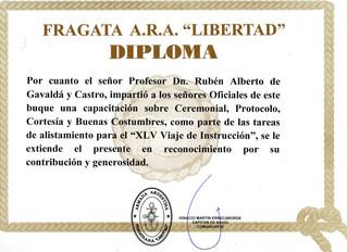 Ceremonial y Protocolo en la Fragata Libertad