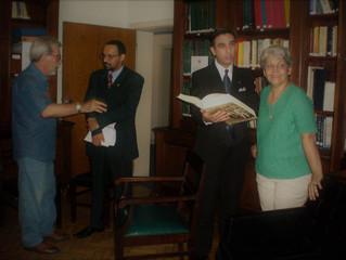 Visita de las Autoridades del Instituto al Colegio Brasilero de Genealogía