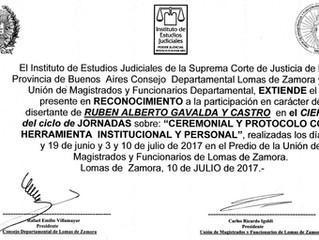 Jornadas de Ceremonial y Protocolo Judicial