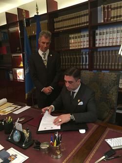 Firma de Acuerdos Institucionales