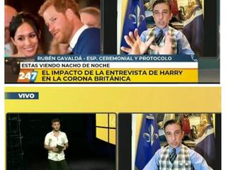El Prof. Rubén A. Gavaldá y Castro en la TV neuquina habla de Harry y su relación con la Corona