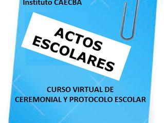 Seminario OnLine de Ceremonial y Protocolo Escolar